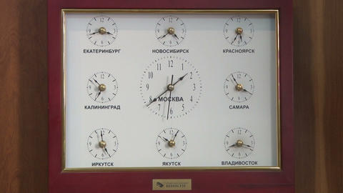 The clock with a different time Stock Video Footage