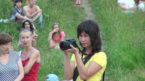 Photographer girl Stock Video Footage