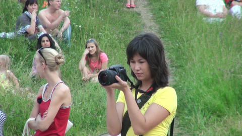 Photographer girl Stock Video Footage