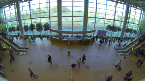 Lobby airport Footage