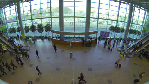 Lobby airport Stock Video Footage