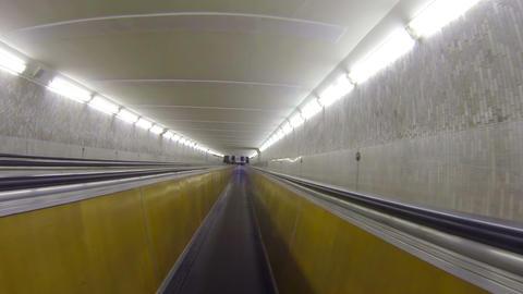 Underground horizontal conveyor Stock Video Footage
