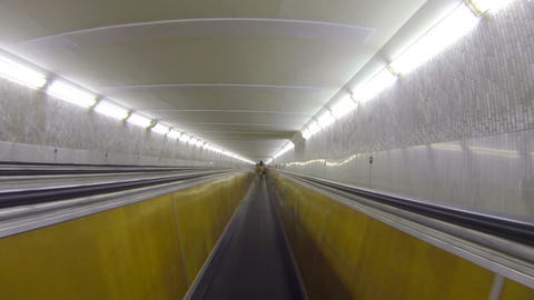 Underground horizontal conveyor Stock Video Footage
