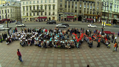 Flashmob in St. Petersburg Footage