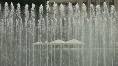 Multi jet water fountain Stock Video Footage