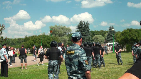Police at the rally Footage