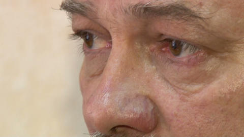 Eyes of the aged men Stock Video Footage