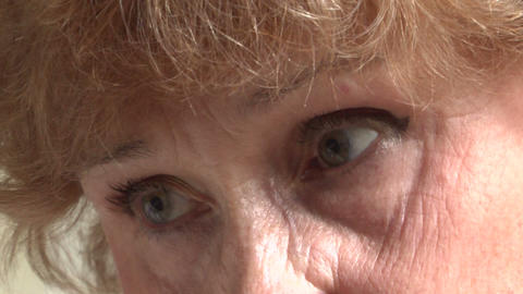 Eyes of an elderly woman Footage