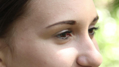 Eyes of a young woman Stock Video Footage