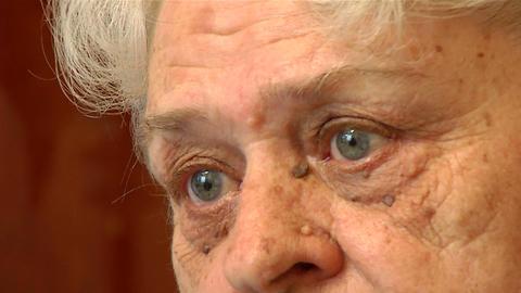 Eyes of an elderly woman Stock Video Footage