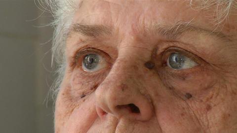 Eyes of an elderly woman Footage