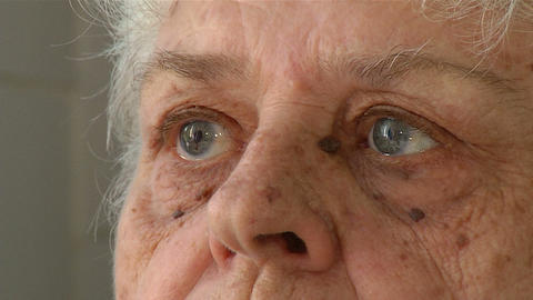 Eyes of an elderly woman Stock Video Footage