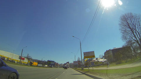 Travel by car through the city Stock Video Footage