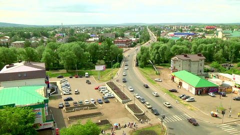 The route in the centre of the city Stock Video Footage