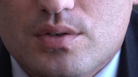 Lips men Stock Video Footage