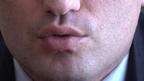 Lips men Stock Video Footage