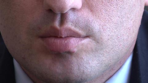 Lips men Footage