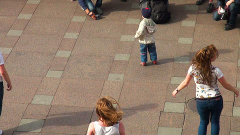 Little boy dancing in the street Stock Video Footage