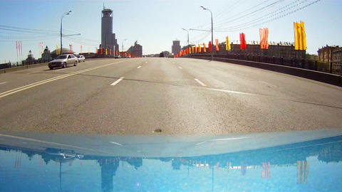 Travel on the Moscow avenues Stock Video Footage