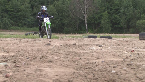 Travel riders motorcycle competitions Stock Video Footage