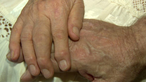 Hands of older people to stay Footage