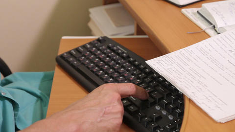 Man's hand on the keyboard Stock Video Footage
