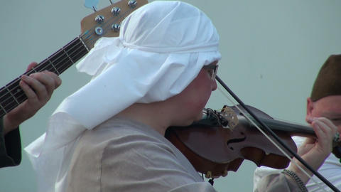 A woman plays the violin Footage