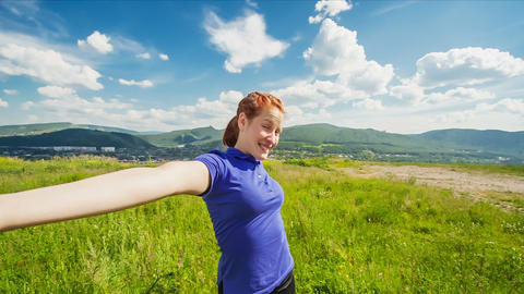 Relaxation exercise Stock Video Footage