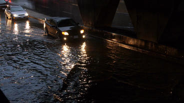 Toronto Storm Flooding 1 Stock Video Footage