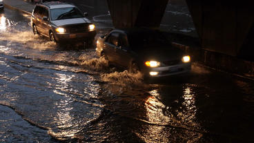 Toronto Storm Flooding 3 Stock Video Footage
