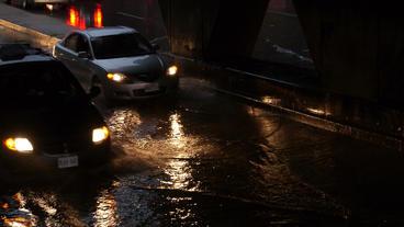 Toronto Storm Flooding 5 Stock Video Footage