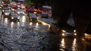 Toronto Storm Flooding 7 Stock Video Footage