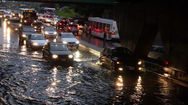 Toronto Storm Flooding 7 Footage