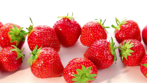 beautiful strawberries - dolly shot of strawberry Footage