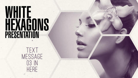 Clean White Hexagon Presentation After Effects Template