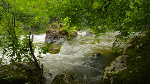 Waterfall, river, mountains, nature. Crimea Footage