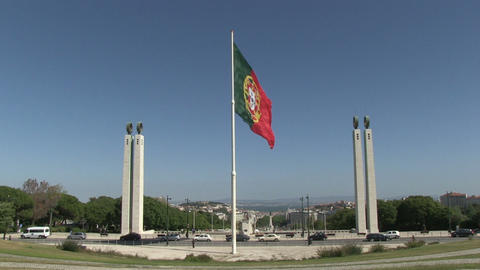 Portuguese flag Stock Video Footage