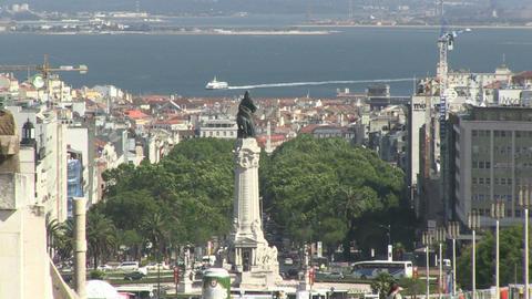 Lisbon Avenue Liberdade Marques Stock Video Footage