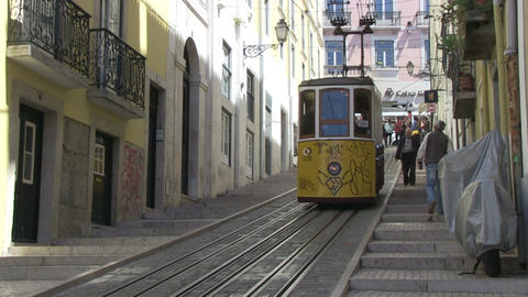 Tram in Lisbon Stock Video Footage
