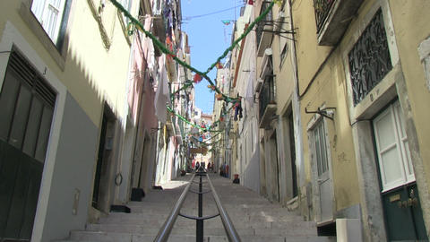 Alley in Lisbon Footage
