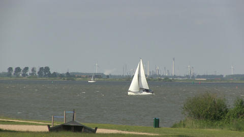 Sailboat Stock Video Footage