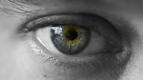 Mans eye Stock Video Footage