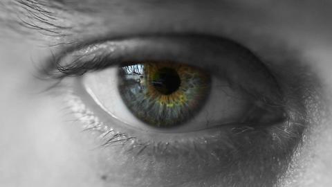 Mans eye Footage