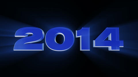2014 Happy New Year, 3d Loop Animation stock footage
