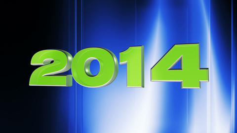 2014 happy new year, 3d loop animation Animation
