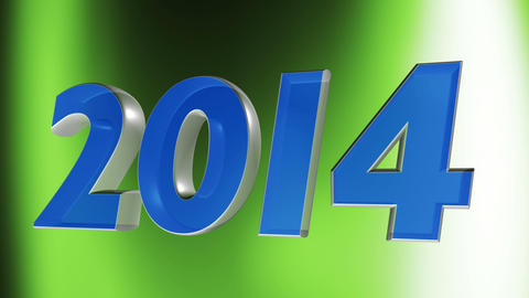 2014 happy new year, 3d loop animation Stock Video Footage