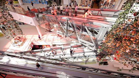 escalator in shopping center Footage
