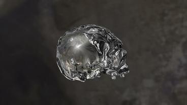 Crystal Skull Rotates Seamless Loop Stock Video Footage