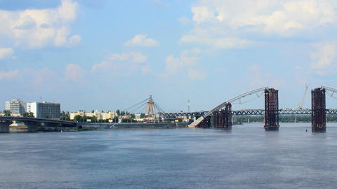 Dnipro bridges Stock Video Footage