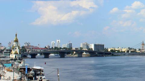 Dnipro bridges Stock Video Footage